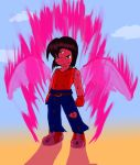 Sam Angelica 9th Anniversary art- Red Rage Mode by achthenuts