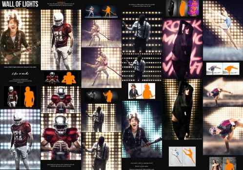 Wall of Lights - Photoshop Actions by GraphicAssets