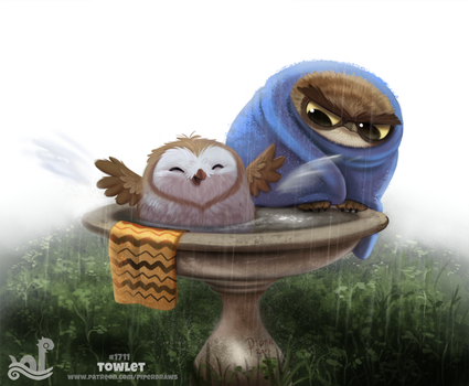 Daily Painting 1711# Towlet by Cryptid-Creations