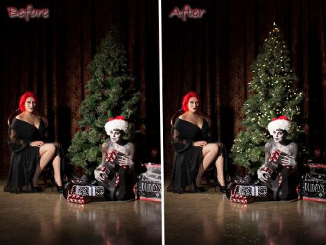 Christmas Horror Retouch by brittybutter2