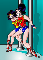 Two Amazons In Danger by GrouchoM