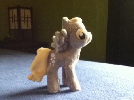 My little plushie (Derpy hooves) side by MollyFlutter