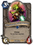 Goblin Personal Afterburner Hearthstone Card by Katmomma