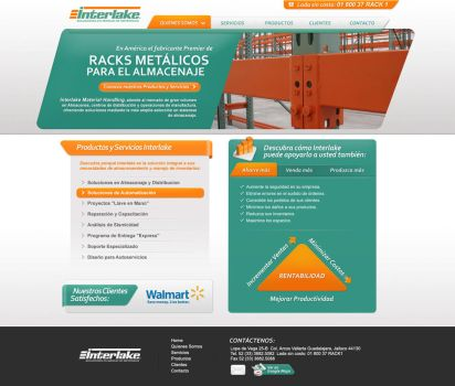 intarlake corporate web design by diego64