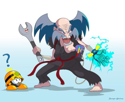 Heihachi x Wily by MightyGoodrum