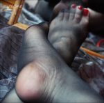 Black Stockings and red toes by JSC48