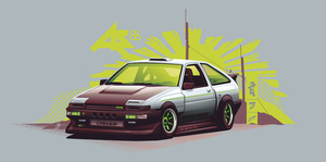 ae86 trueno vector by depot-hdm