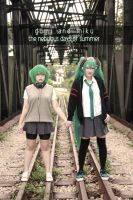 Vocaloid Summer School - Gumi x Miku by Xeno-Photography