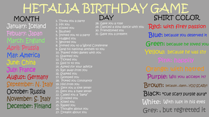 Hetalia Birthday Game by Shake666Productions