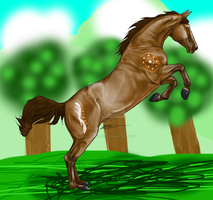RMS Mystery in the Forest -Hall of Fame Horse- by tilachihuahua