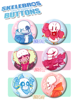 Undertale Button set by tabe103
