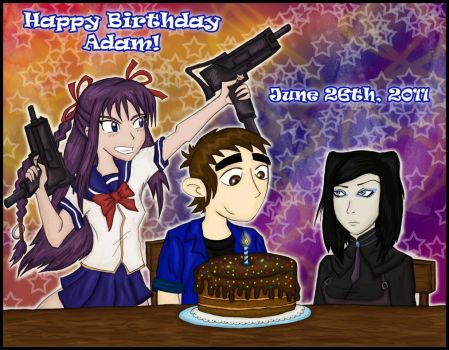 Happy Birthday Adam 2011 by Dinogaby