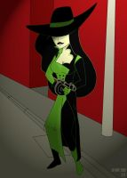 Shego and a tommy gun... by justicetoall