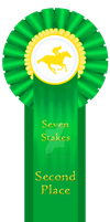 Seven Stakes 2nd Place Ribbon - 2015 by SynBrittany