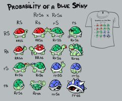 Woot Shirt - Probability Of A Blue Spiny by fablefire