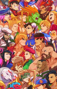 Street Fighter Heads by edwinhuang