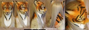 Fighter Tigress- FULL style LARP mask by Magpieb0nes