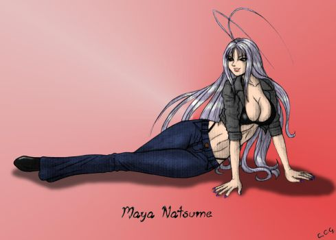Maya Natsume - Coloured by CCGTheArtist