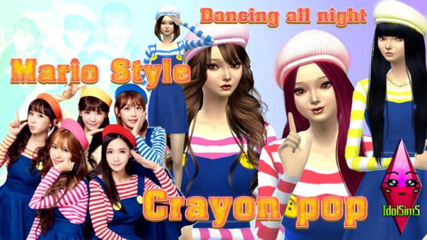 Crayon Pop Dancing all night sims 4 ver by RainboWxMikA