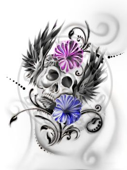 Winged Skull by Get-Wicked-Designs