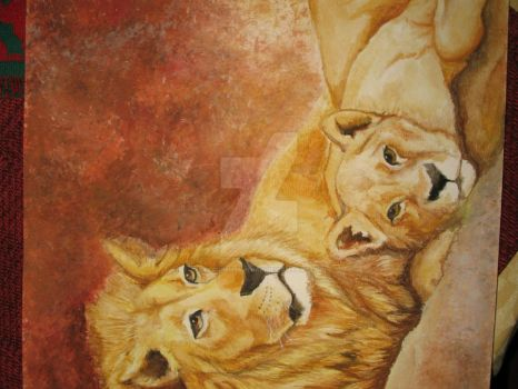Lion and the Lioness by calciumbhahebak