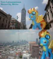 Spitfire up in the Torre Latinoamericana by DarkBrony181