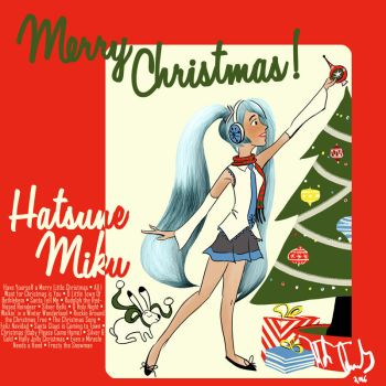 Hatsune Miku Christmas Album Cover by CarbonF