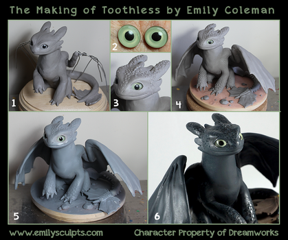 The Making of Toothless by emilySculpts