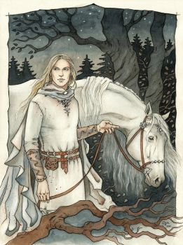 Commission - Glorfindel by LiigaKlavina
