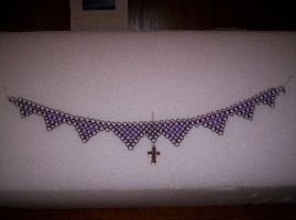 Black and Purple Choker1 by gnomeofmaille