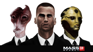 Mass Effect 3 suits by staxandy