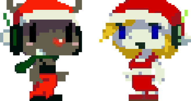 Cave Story Icons - Quote and Curly Christmas Ver. by Doctor-Cool