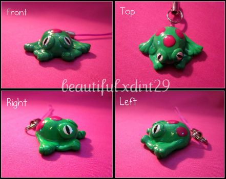 Sweet Spotted Frog Phone Charm by beautifulxdirt29