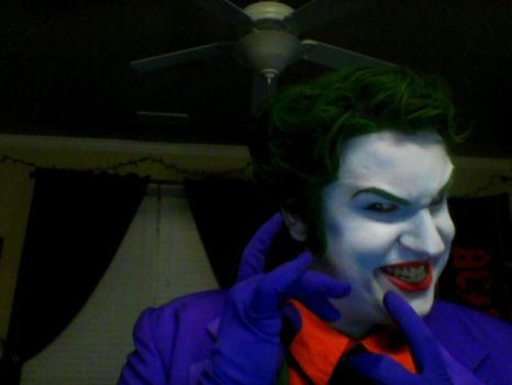The Joker- Free Comic Book Day Make-up Test 2013 by JackSkelling10