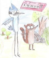 MORDECAI AND RIGBY THE POWER by Cokedark11