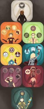 Avengers in a box by GraphiteDoll