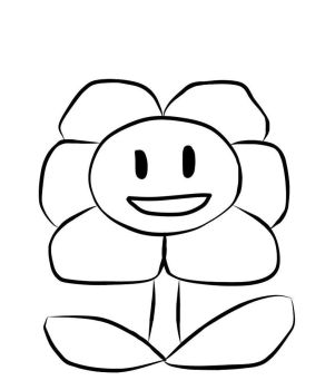 Flowey Lineart [Prize] by NyanHuman