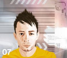 Thom Yorke From Radiohead by hassmework
