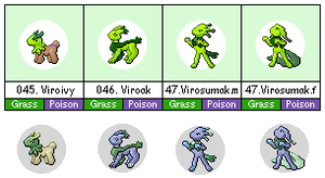 Poison Ivy Fakemon Sprites by bootlegend