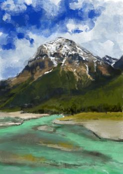 Scenery sketch - Mountain by yuhime