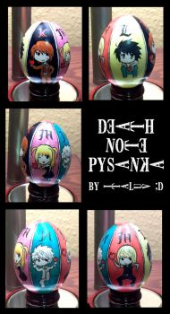 Death Note Pysanka by ItaLuv