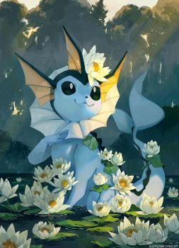 Vaporeon by bluekomadori