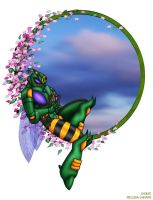 Waspinator - Cherry Blossoms by WaywardInsecticon