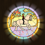 Stained Glass Gaston by Pandion-Equine