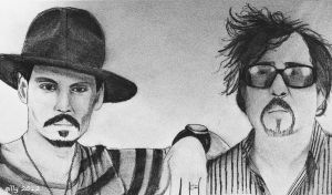 Johnny depp and Tim burton by gilly15