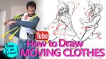 HOW TO DRAW CLOTHES IN MOTION - A YouTube Tutorial by javicandraw