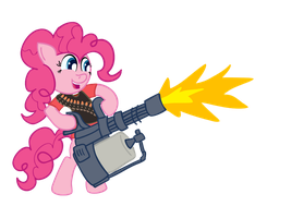 Heavy Weapons Pony by TranquilMind