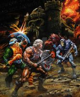 He-Man and the Power Sword - Oil on Canvas by SiMoSol