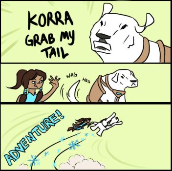 KORRA GRAB MY TAIL by MiraMonochrome