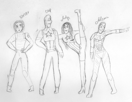 Draw the Squad - Avengers Style by OneDirectionsMofo